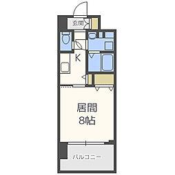 エス・キュート梅田中崎町 13階1Kの間取り