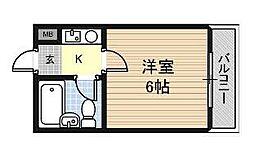 大阪府大阪市東成区大今里南1丁目の賃貸マンションの間取り
