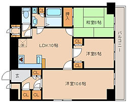 兵庫県神戸市兵庫区塚本通7丁目の賃貸マンションの間取り