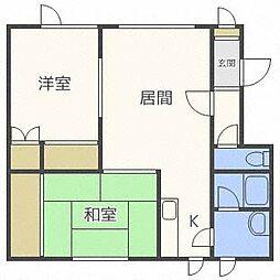 北海道札幌市北区屯田七条12丁目の賃貸アパートの間取り