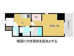 名古屋市営名城線 大曽根駅 徒歩3分の賃貸マンション 3階1Kの間取り