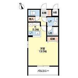 Muguet confort[3階]の間取り