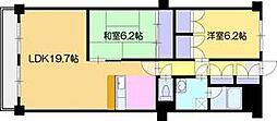 たいせいマンション[9階]の間取り