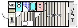 ベルデ堺東[2階]の間取り