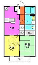 埼玉県和光市新倉2丁目の賃貸アパートの間取り