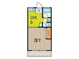 長野ハイツ[2階]の間取り