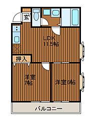 ダイトープラザファースト[3階]の間取り