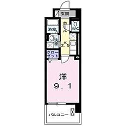グランデ新宿[603号室]の間取り