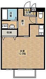 大阪府大阪市住之江区新北島3丁目の賃貸アパートの間取り