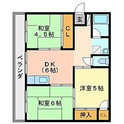平野マンション[1階]の間取り