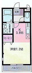 神奈川県大和市中央4丁目の賃貸マンションの間取り