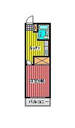 ヨーゴーマンション[2階]の間取り