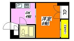 ロータリープロピオ 301号室[3階]の間取り