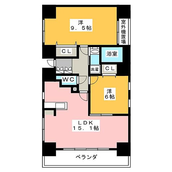 ViViENDA 栄[5階]の間取り