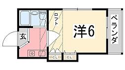 メゾン・T大久保[206号室]の間取り