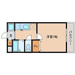 近鉄奈良線 近鉄奈良駅 バス13分 護国神社下車 徒歩5分の賃貸アパート 2階1Kの間取り