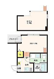 ハーモニーテラス花川II[2階]の間取り