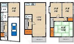Osaka Metro長堀鶴見緑地線 蒲生四丁目駅 徒歩11分の賃貸一戸建て 1階4LDKの間取り