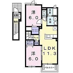 南竜王町アパート[0203号室]の間取り