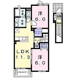 ディアリス・K B[2階]の間取り