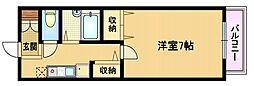 ラフォーレ野江内代[3階]の間取り