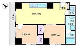 エクセル熊野町[6階]の間取り
