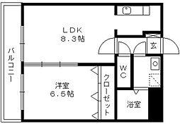 プリマヴェーラ諏訪野[6階]の間取り
