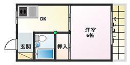 シャルマン淀江[5階]の間取り