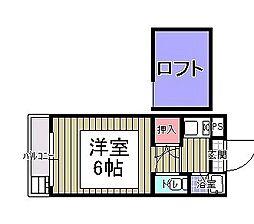 フラットエムズ[203号室]の間取り