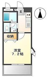高松琴平電気鉄道志度線 潟元駅 徒歩4分の賃貸アパート 2階1Kの間取り