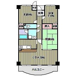 大阪府堺市中区深阪3丁の賃貸マンションの間取り