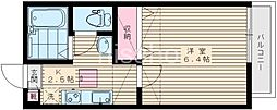 1416−ソロル若宮[106号室]の間取り