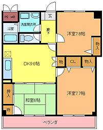 クレオ21マンション[404号室]の間取り