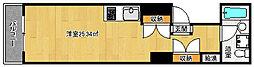 京都府京都市上京区東堀川椹木町上る五町目の賃貸マンションの間取り