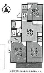 ドミエールB[207号室]の間取り