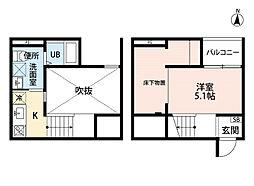 REFINED TASTE三吉 (リファインドテイストミヨシ[2階]の間取り