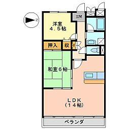 ロワイヤル百合[3階]の間取り