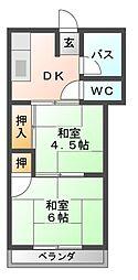 本荘マンション[3階]の間取り