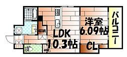 飛幡プライド[701号室]の間取り
