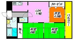 グランドール・K 402号室[4階]の間取り