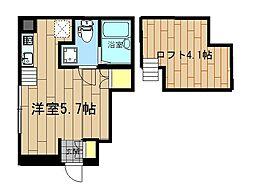 神奈川県大和市大和東3丁目の賃貸アパートの間取り