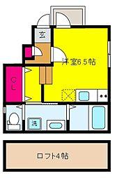 兵庫県神戸市東灘区魚崎南町8丁目の賃貸アパートの間取り
