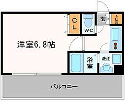 エステムコート難波サウスプレイスIIレフィーナ[7階]の間取り