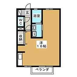静岡県沼津市志下の賃貸アパートの間取り