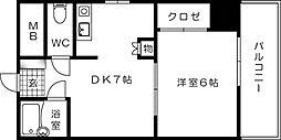 リブレ東蟹屋[402号室]の間取り