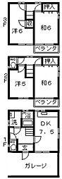 [一戸建] 大阪府大阪市阿倍野区万代1丁目 の賃貸【/】の間取り