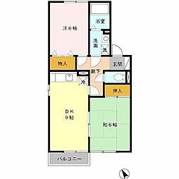 第5グリーンハイツ A棟[2階]の間取り