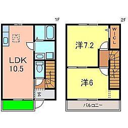 [テラスハウス] 愛知県碧南市平七町5丁目 の賃貸【/】の間取り