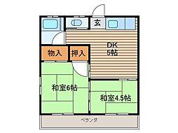 中村荘A[1階]の間取り