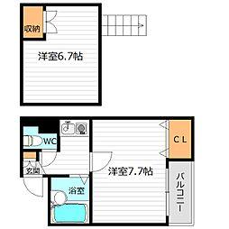 ペルソナI[4階]の間取り